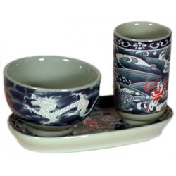 Dragon Porcelain Teacup Set