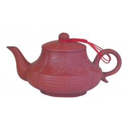 "Hand Carved ""Good Fortune"" Teapot"