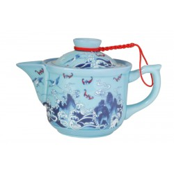 Crane and Dragon Porcelain Teapot