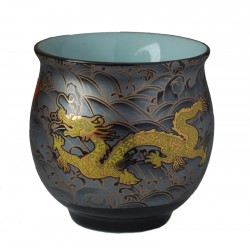 Golden Dragon Insulated Teacup